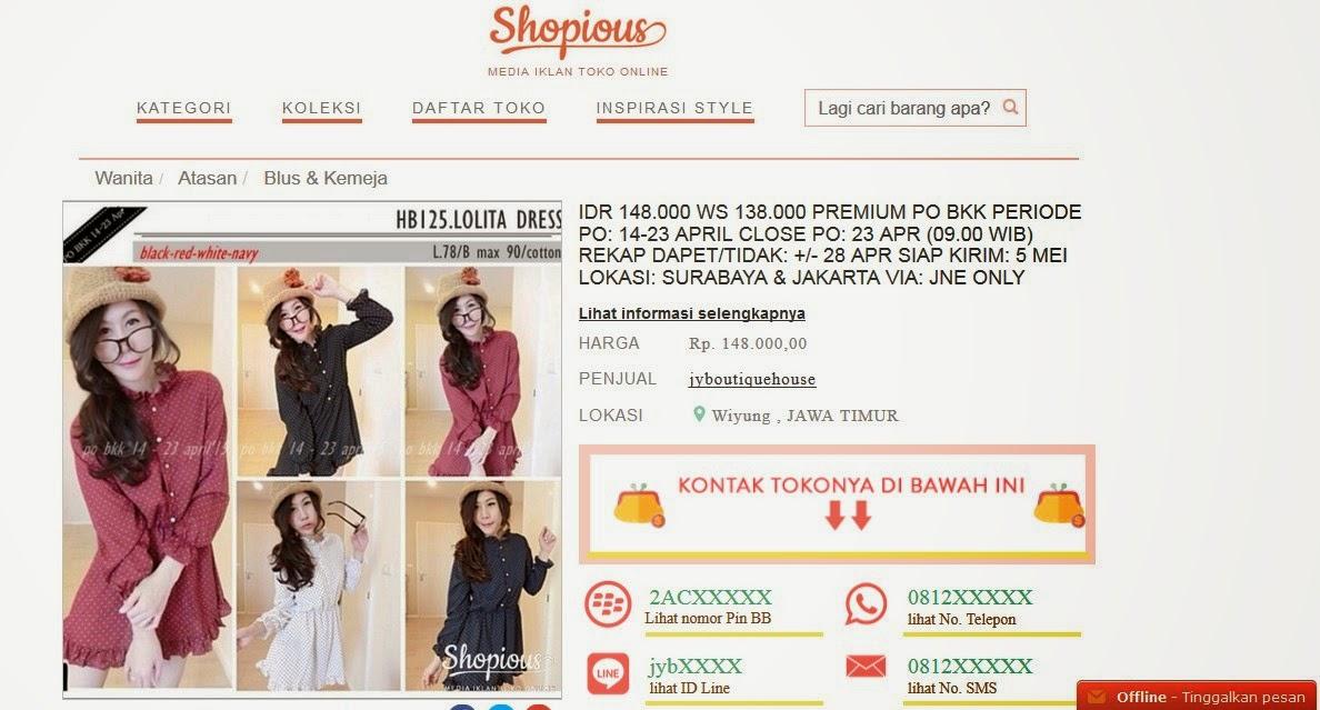 Shopious, cara mudah dan aman jual beli online