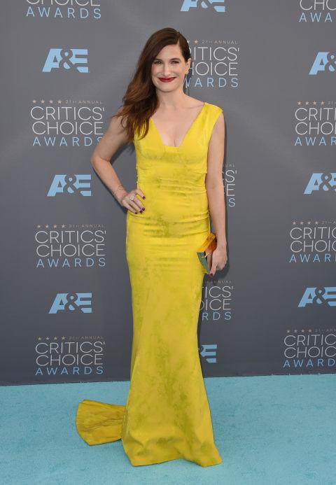 vestido amarelo critics choice 2016