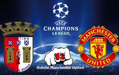 Live Streaming UEFA Champions League Sporting Braga Vs Manchester United  8 November 2012