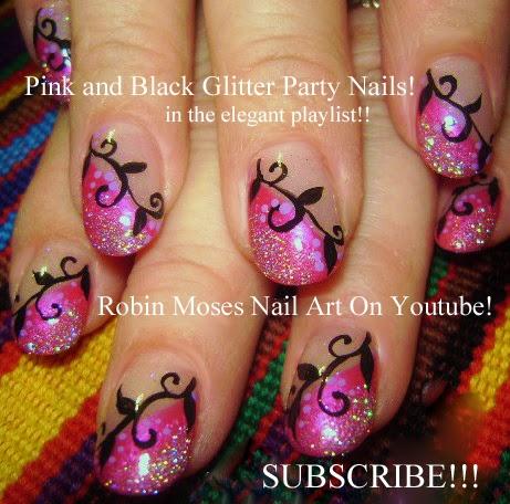 """nail artrobin moses """"nye nails"""" """"new years eve nails"""