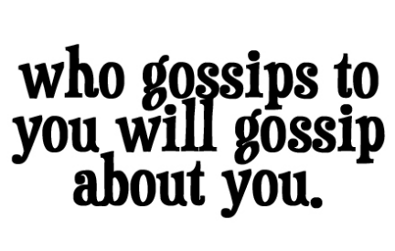 what does the bible says about gossip miss kes