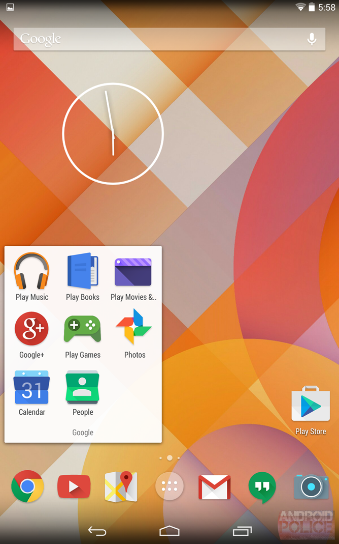 Leaked screenshot reveals possible Android redesign