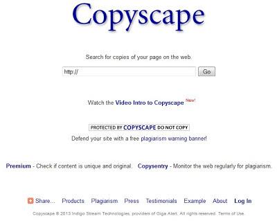 cara mengecek duplikat konten dengan copyscape