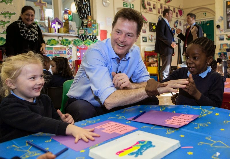 Nick Clegg school visit