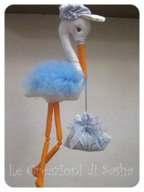 Le creazioni di sasha fiocco nascita maschietto ancora - Immagini di cicogne che portano bambini ...