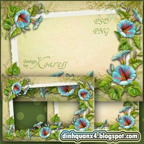 Frame for romantic photos - Silence on the meadow