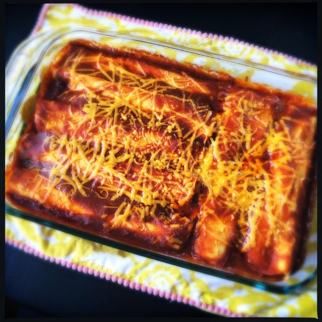 Homemade Chicken Enchiladas including homemade sauce! Delicious! The Graffitied Gardenia blog