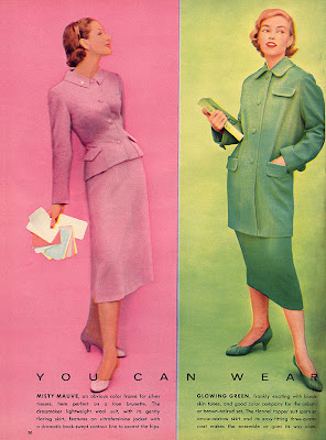 1950s fashion in pink and green