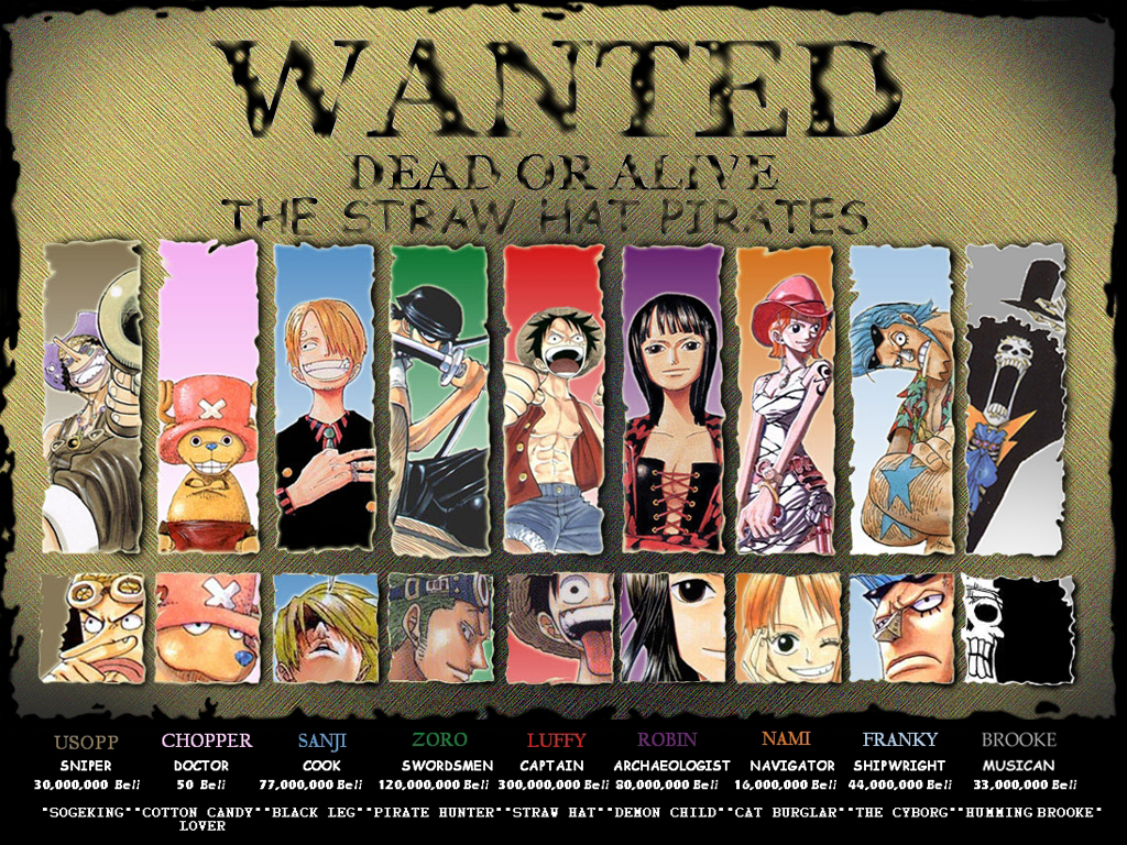 One Piece Wanted #1 Free Wallpaper