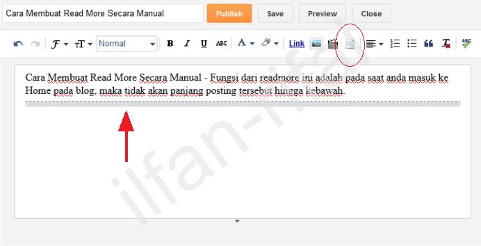 Ilfan Blog: Cara Membuat Read More Secara Manual