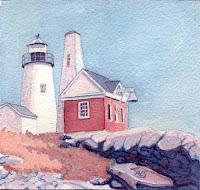 Pemaquid Light V - Watercolor by Paul Sherman