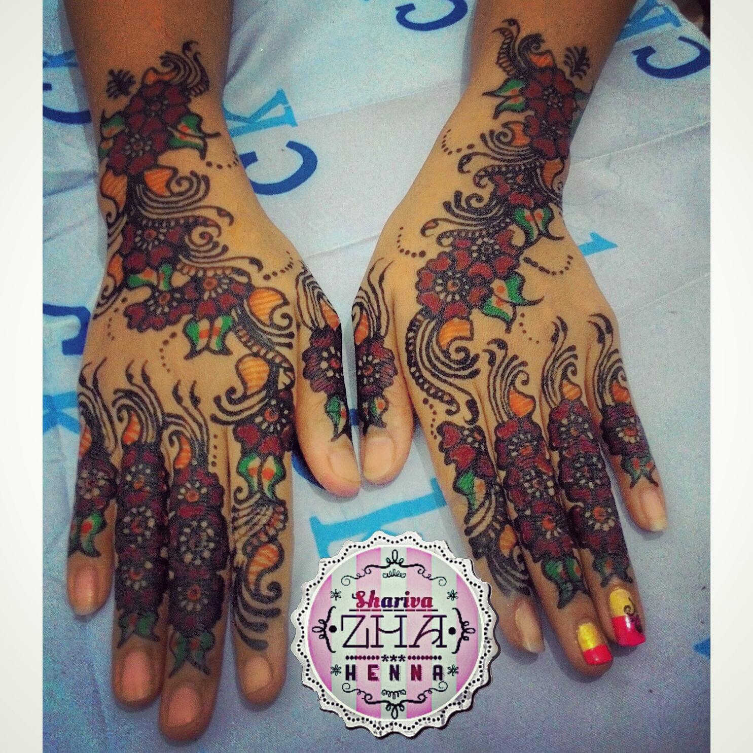 Shariva Zha Henna Jakarta Desain Henna Simple Wedding 01