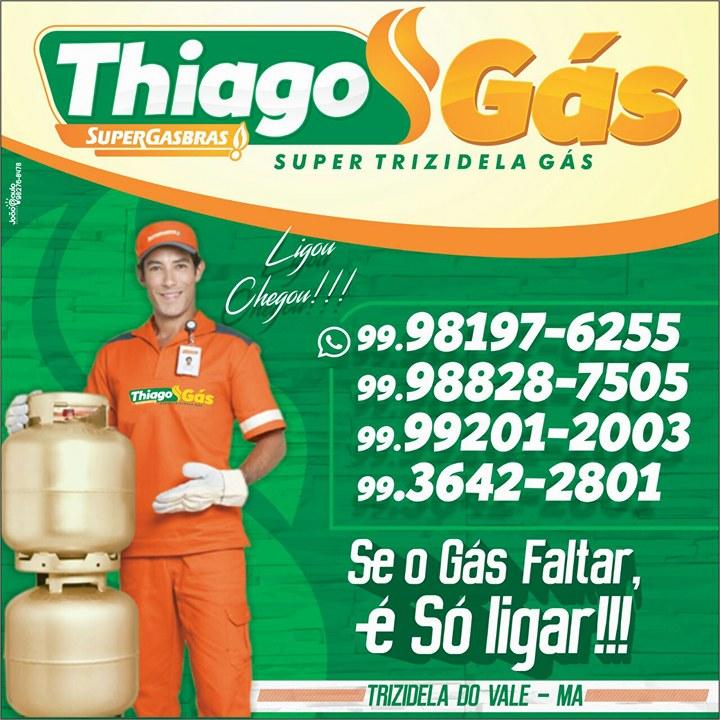 Thiago Gás - Av. Zezinho do Padre, 2A - Trizidela do Vale-MA