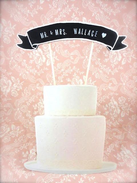 cake topper banière