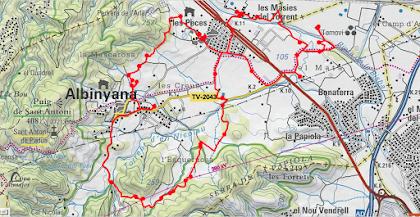 Caminada Popular del 1er de maig a Albinyana