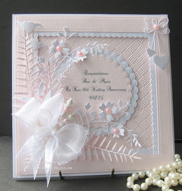 10th Wedding Anniversary Gift Ideas Uk : Card size 71/4