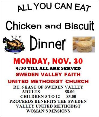 11-30 All You Can Eat Chicken & Biscuits