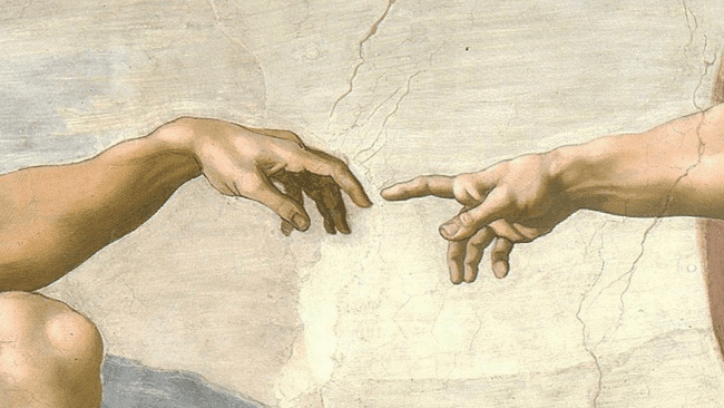 Michelangelo Touch Of God Painting