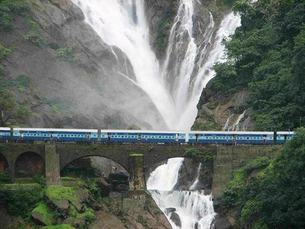 Travel Trip Journey Dudhsagar Falls Goa India