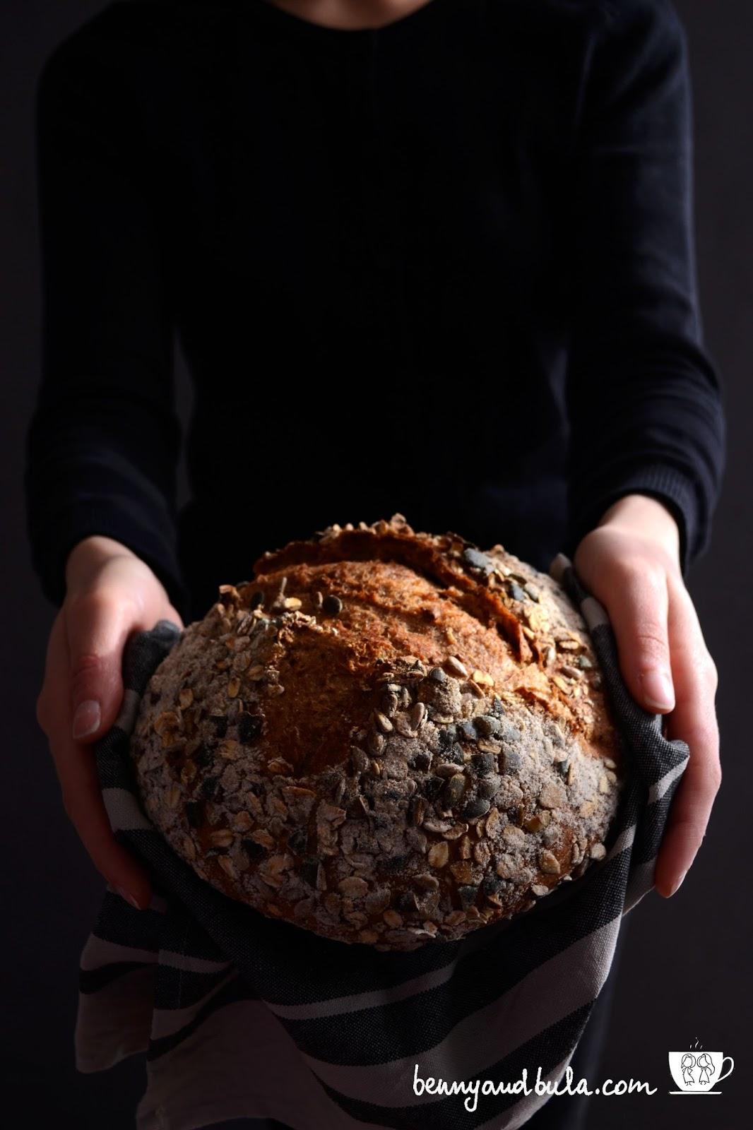 ricetta pane ai cereali e semi/seeded multigrain bread recipe