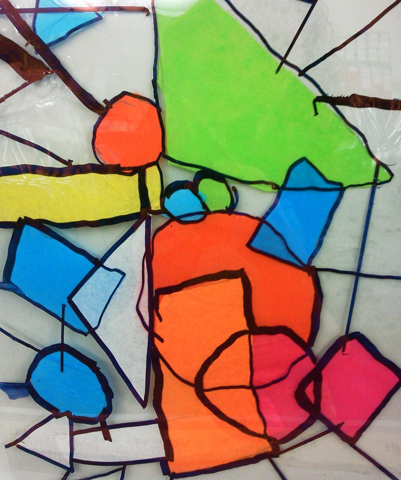 Candice Ashment Art Diy Stained Glass With Tissue Paper 2nd Grade