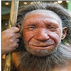 """Um cientista está procurando uma """"mulher aventureira"""" que ofereça a barriga de aluguel para a geração de um clone do homem de Neanderthal, ancestral do homem (representado ao lado) extinto h"""