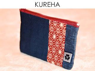 Kureha Etui aus japanischen Stoffen von Noriko handmade, handgemacht, Einzelstück, Unikat, Design, Reisepass, Kartenetui
