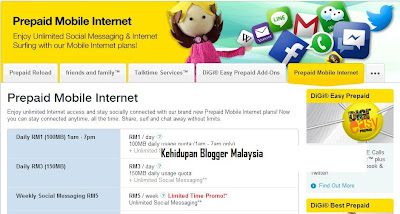 Digi Prepaid Mobile Internet Unlimited ~terbaek~