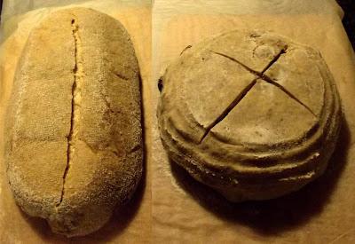 Greñado de panes de trigo y espelta ecológicos