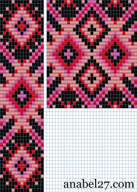 схемы для бисероплетения, ткачество, гердан, гайтан, bead pattern loom beading beadwork