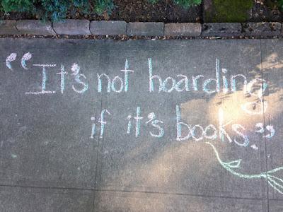 book hoarder sidewalk chalk tinhouse