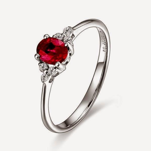 пръстен с рубини