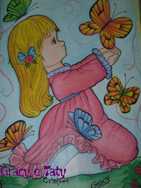 criança e borboletas