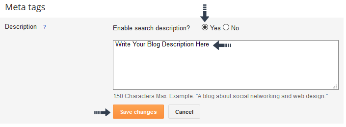 how to write page descriptions for seo photographers