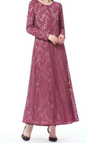 NBH0576 JUBAH LACE MABRUKOH (UP TO PLUS SIZE)