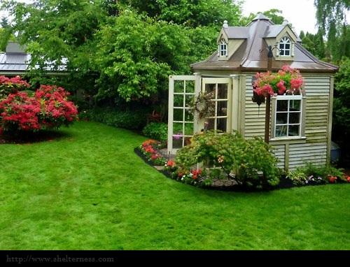 Ren e finberg 39 tells all 39 in her blog of her adventures for Backyard studio plans