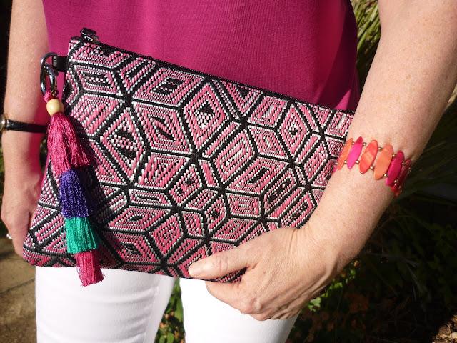Aztec Clutch Bag | Petite Silver Vixen