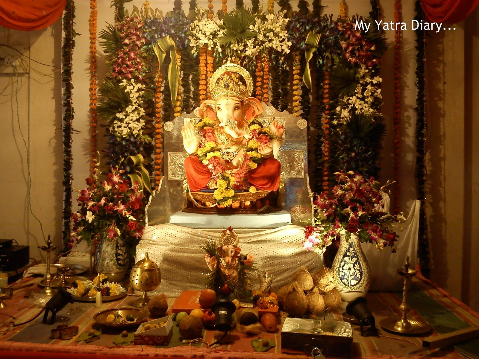 Flower Decoration Ideas For Ganpati