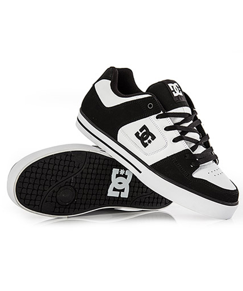 s dc shoes black white white hook of the day