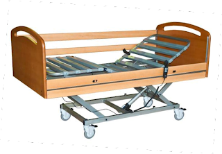camas articuladas ou hospitalares eléctrica com carro de elevação