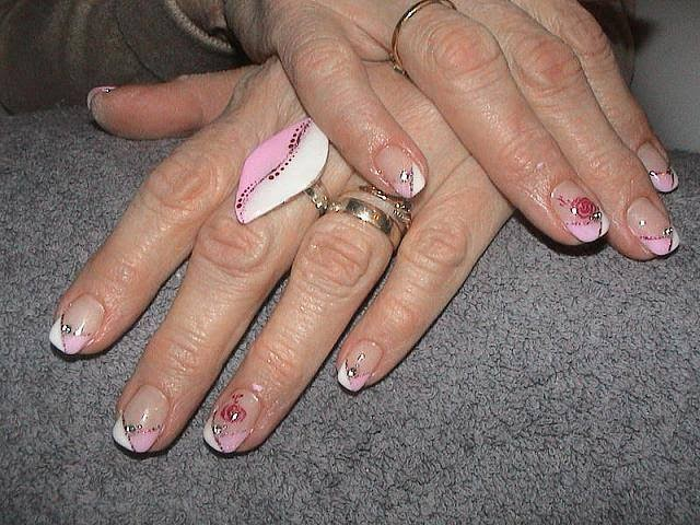 Acrylic sculpts hard gel colors glitz stones-silver glitz nail art-acrylic nail art-french manicure-acrylic world