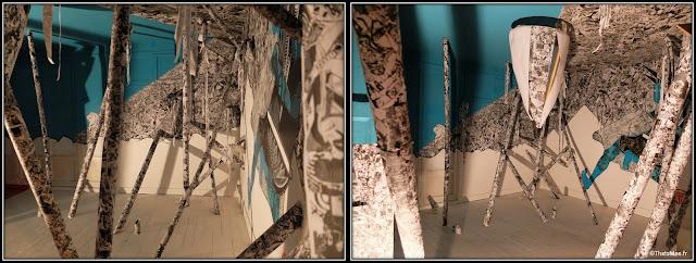 Tour Paris 13 Stew Street art turquoise papier journal