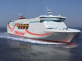 Fabuloso e luxuoso ferry tunisino TANIT