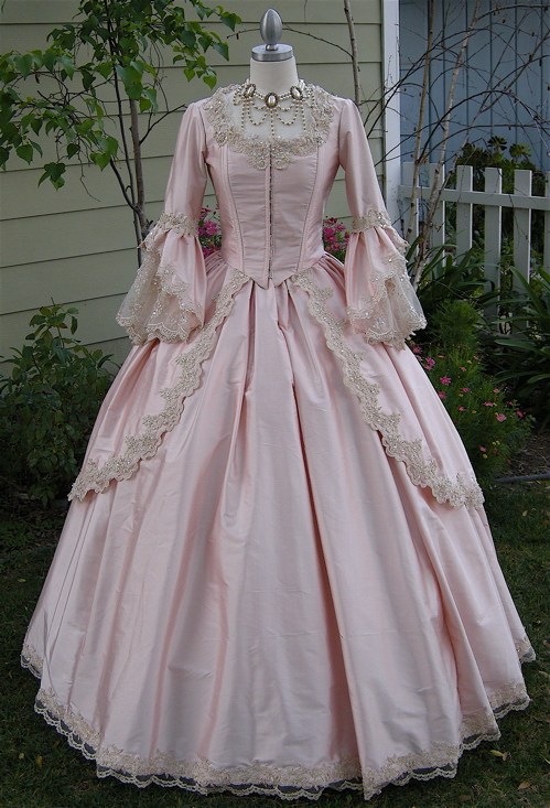Pink Victorian Ball Gown Prom Dress