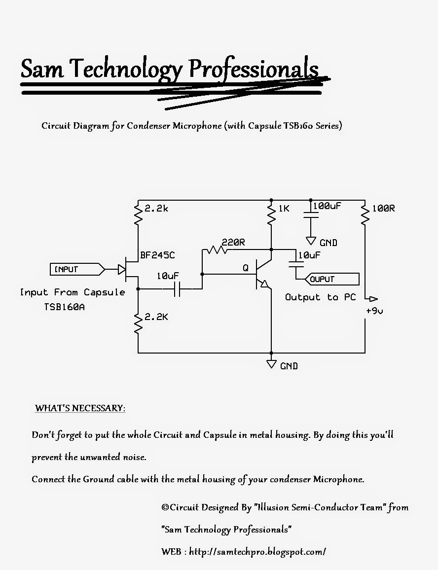 Condenser%2BMicrophone%2BSTP SM109%2BSchematic sam technology professionals  at virtualis.co