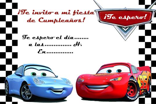 Cars Disney tarjetas de invitación - Imagui