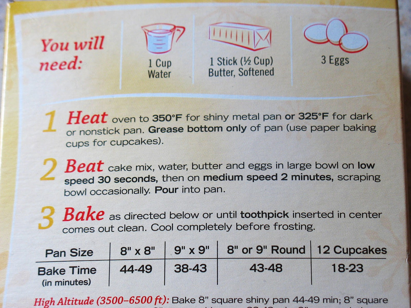 Ingredients In Betty Crocker Vanilla Cake Mix
