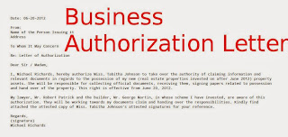 Business authorization letter samples business letters business authorization letter flashek Gallery