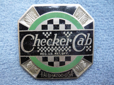 CHECKER CAB radiotor emblem badge vintage