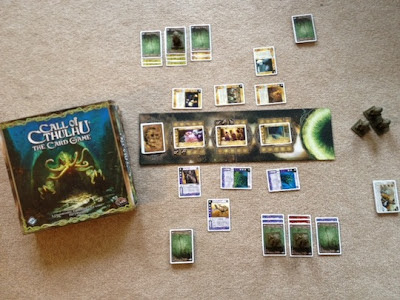 Call of Cthulhu living card game in play